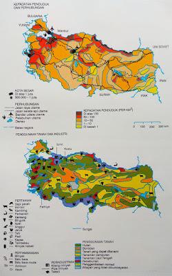 Gambar Peta kepadatan penduduk Turki