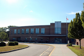 Horace Mann MIddle School on a bright and sunny summer day