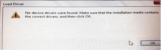 No device drivers were found Windows 7 USB error solution