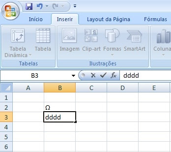 Excel - caracteres substituidos