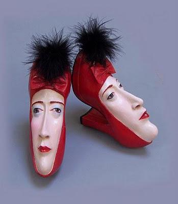 Arte inusual con zapatos