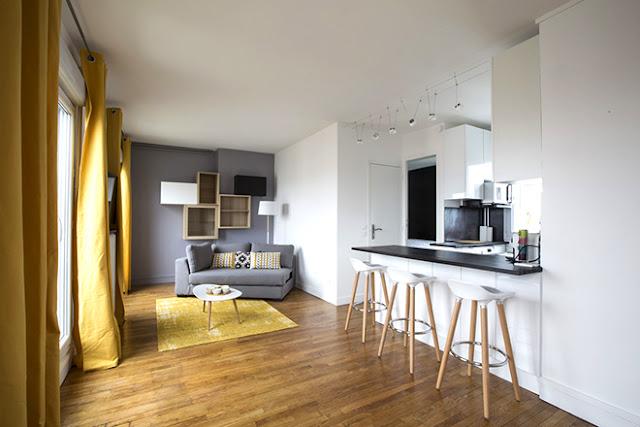 Transformation grand studio parisien en appartement