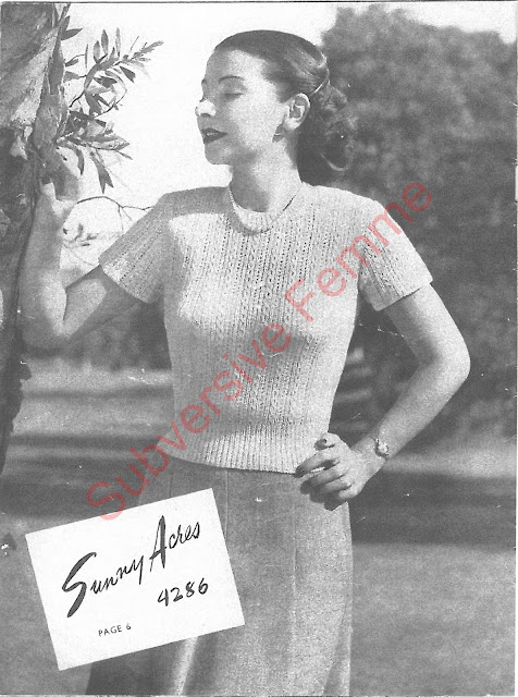 The Vintage Pattern Files: Free 1950's Knitting Patterns - Twin-Prufe Series No.144