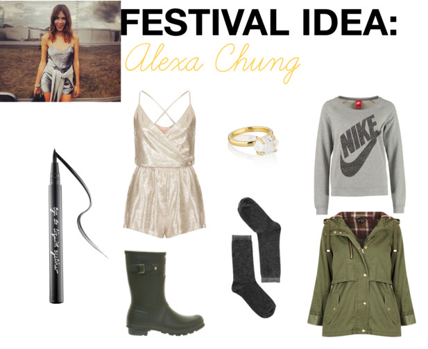 alexa chung festival fashion get the look glastonbury 2014