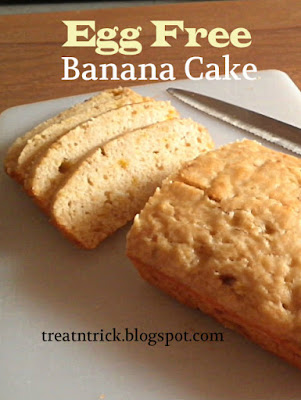 Egg Free Banana Cake Recipe @ treatntrick.blogspot.com