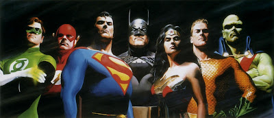 Justice League Original 7 Fine Art by Alex Ross