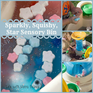 Sparkly, Squishy, Star Sensory Table