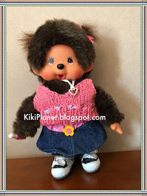 top en laine, kiki, monchhichi, poupée, vêtement, tricot, knitting, fait main, handmade