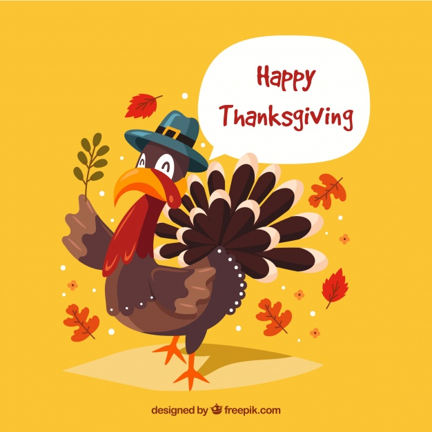 Happy thanksgiving background Free Vector