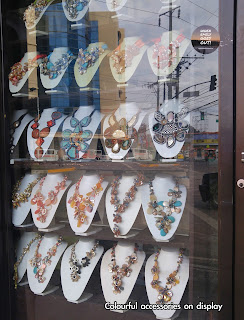 Necklaces display in Aldevinco