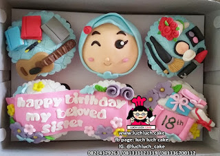 Cupcake Fondant 2D Fashion Untuk Perempuan