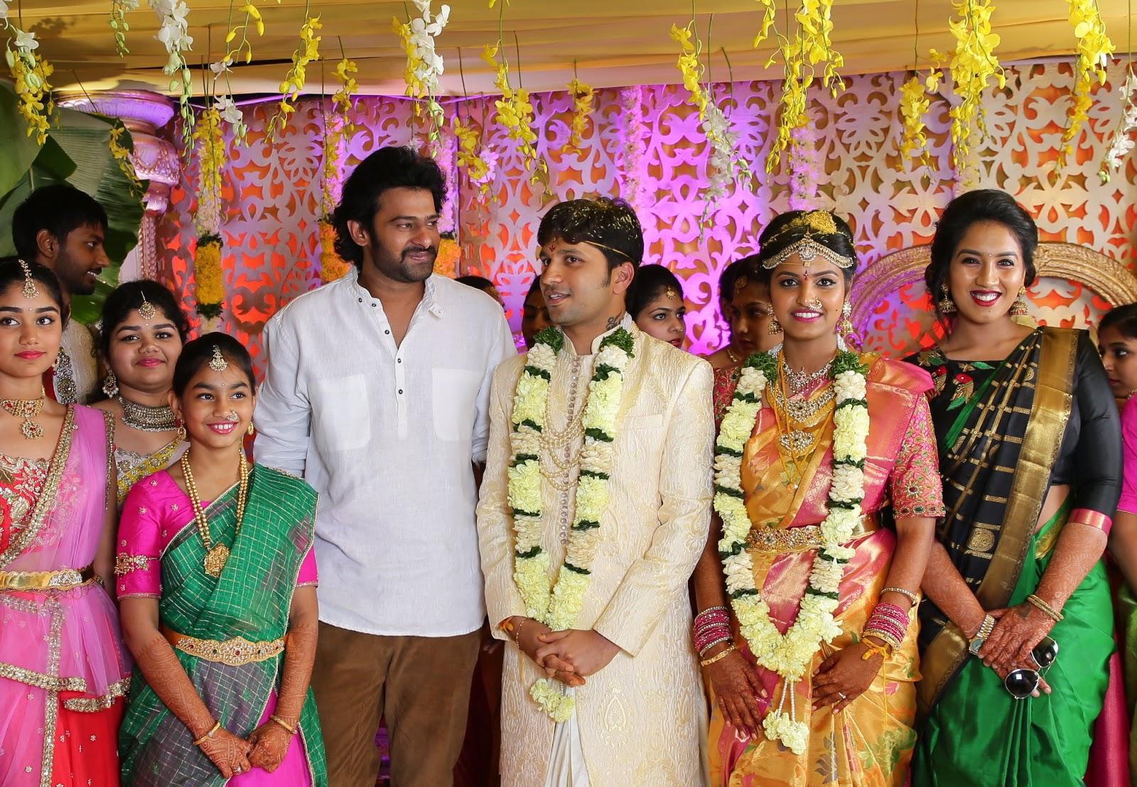Prabhas Fans Forever: Prabhu Thej Wedding (4/8/2016