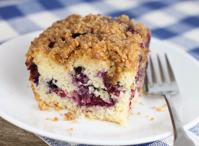 BLUEBERRY COFFEECAKE WITH STREUSEL TOPPING