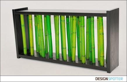 Art Wall Decor Green Bamboo Sticks