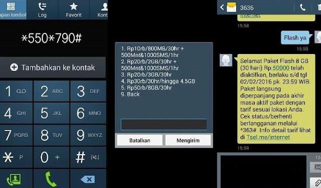 Cara Daftar Paket Kuota Internet Murah Telkomsel 2016 - Promo *550*790#