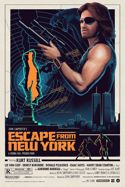 Escape from New York Regular Edition Movie Poster Screen Print by Matt Ferguson x Grey Matter Art