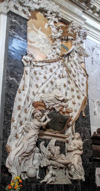 The funeral monument of Francesco Morosini by Filippo Parodi in the church of San Nicolò da Tolentino, Venice.