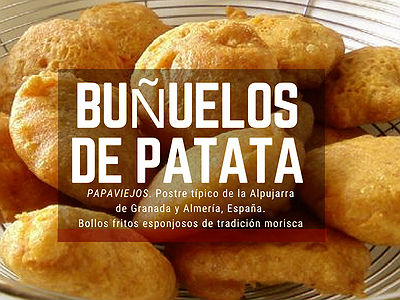 Buñuelos de Patatas, receta para preparar estos bollos fritos esponjosos