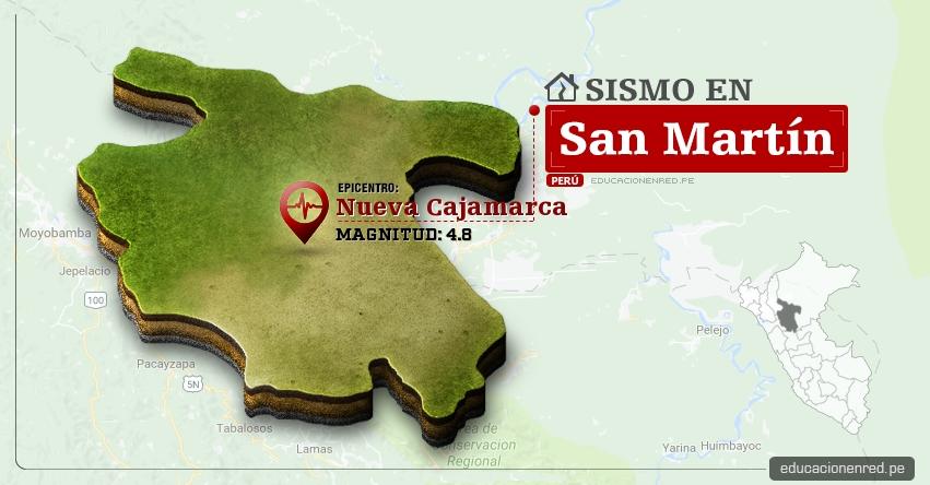 Temblor en San Martín de 4.8 Grados (Hoy Miércoles 28 Junio 2017) Sismo EPICENTRO Nueva Cajamarca - Rioja - Calzada - Moyobamba - IGP - www.igp.gob.pe