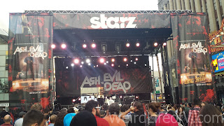 Stage setup on Hollywood Boulevard for the Iggy Pop concert