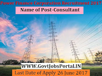 Power Finance Corporation Recruitment 2017– Consultant
