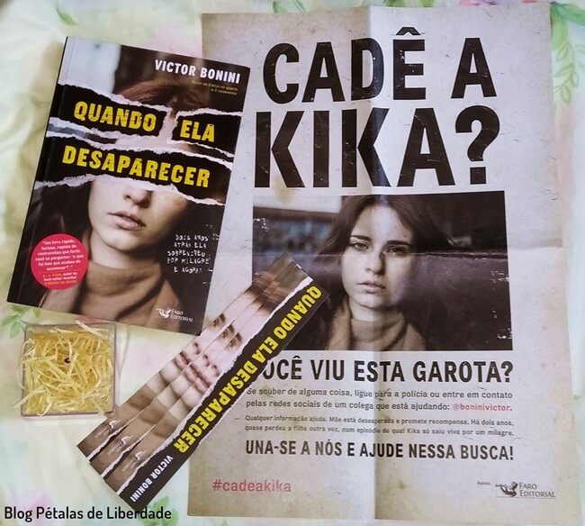 livro, Quando-ela-desaparecer, Victor-Bonini, Faro-Editorial, blog-literario, petalas-de-liberdade