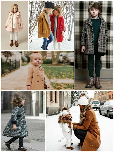 Abrigos de moda para niños 2018 - 2019