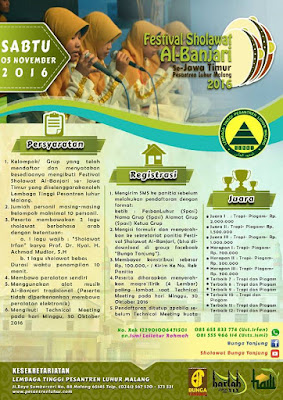 Festival Al Banjari (Pesantren Luhur Malang) Se Jawa Timur - 5 November 2016