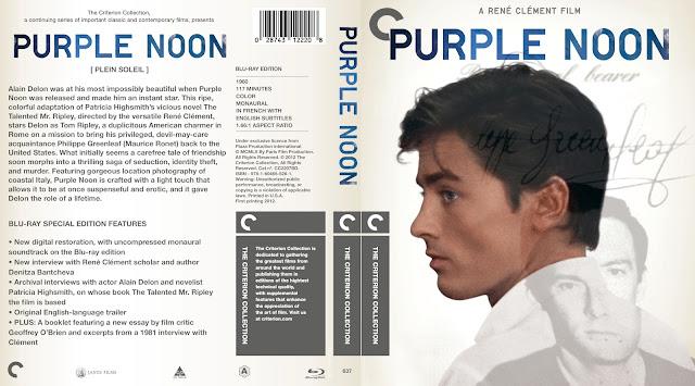 Purple Noon Bluray Cover