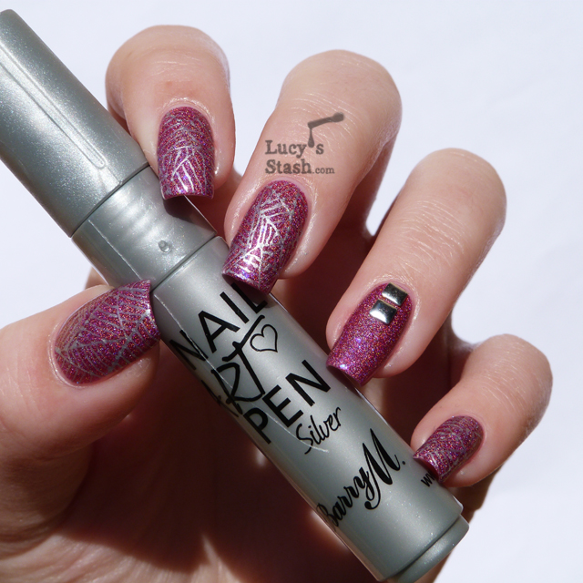 Nail Art Pens: Barry M Nail Art Pen Silver Over Darling Diva Catherine