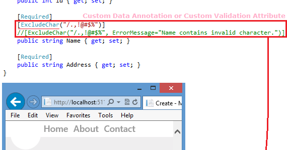 mvc custom validation attribute with parameter