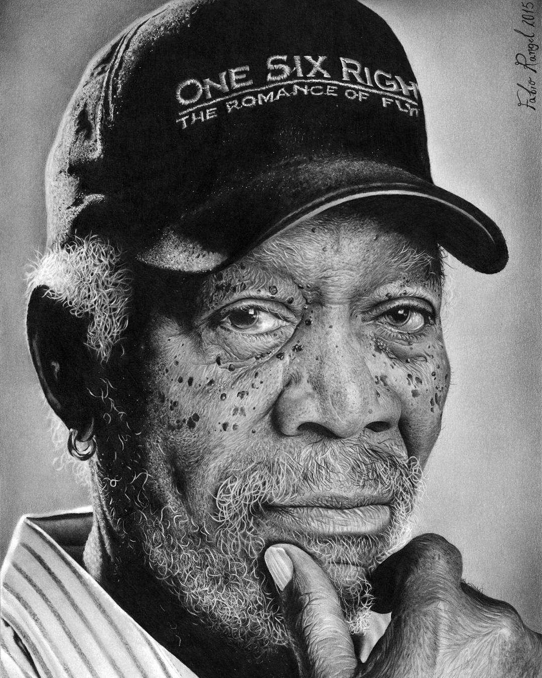 16-Morgan-Freeman-Fabio-Rangel-Drawings-of-Protagonists-from-TV-and-Movies-www-designstack-co