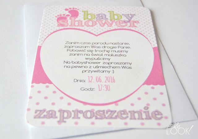 Zaproszenie na Baby Shower różowe