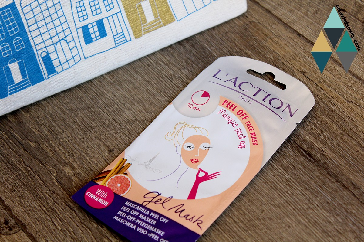 test masque peel off l'action paris