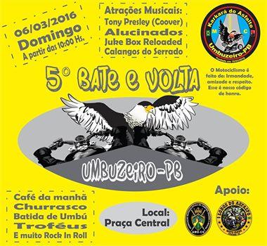 5º BATE E VOLTA: KARKARÁ DO ASFALTO DE UMBUZEIRO-PB