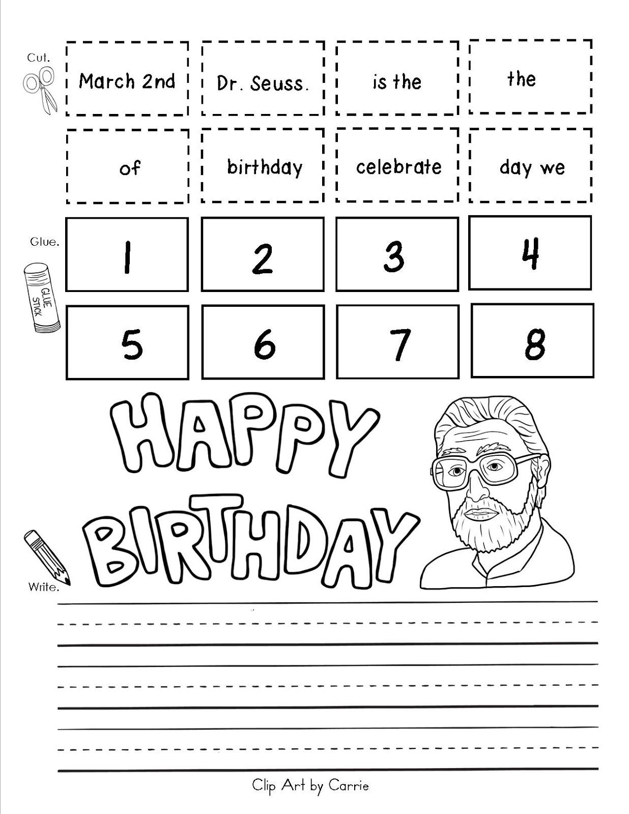 Dr Seuss Birthday Clip Art