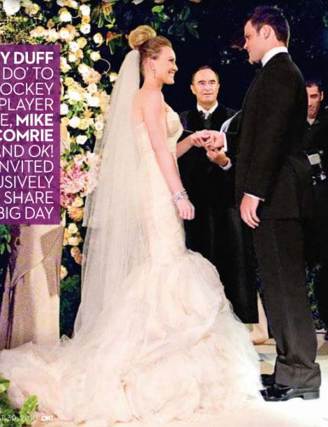 Celebrity Wedding Hilary Duff  Wedding Bells