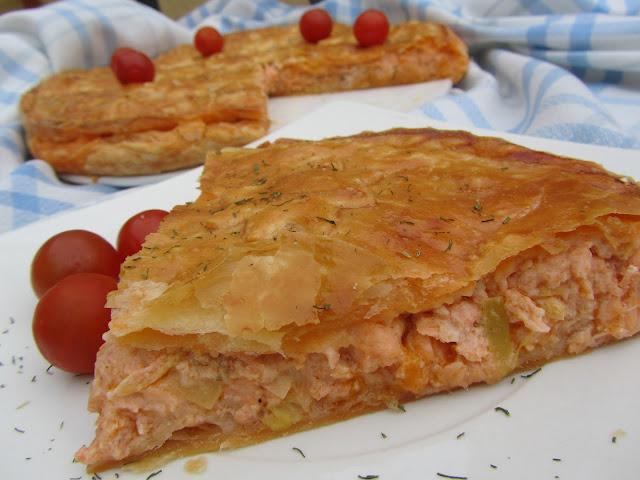 Empanada de salmón y gambas Ana Sevilla cocina tradicional