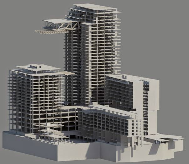 My work this week: Apartment Building | BIMWise