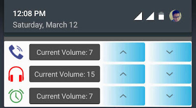 Voume Chopcut Extended Notification feature.