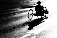 Rollstuhlfahrer Berlin Marathon 2014