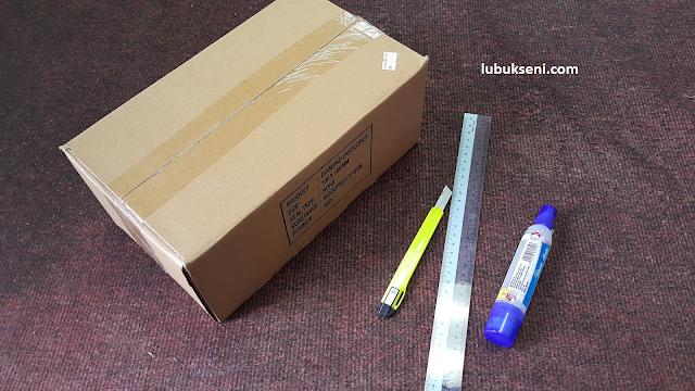 Diy Bekas Alat Tulis Dari Kotak Terbuang
