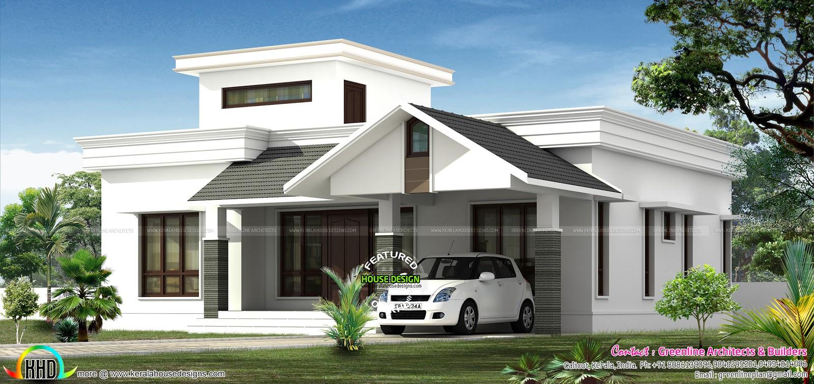 Low budjet single floor house design two side views ...