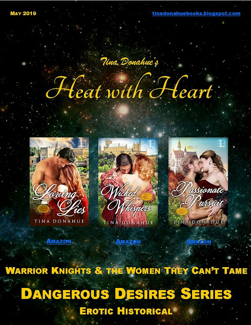 Warrior Knights and the Women They Can't Tame – Tina Donahue Monthly News Magazine #Romance #FreeReads #GuestAuthors #SneakPeek #EyeCandy #Giveaway