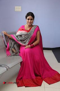 Actress Poorna Pictures in Red Salwar Kameez at Jayammu Nischayammu Raa Teaser Launch  0192