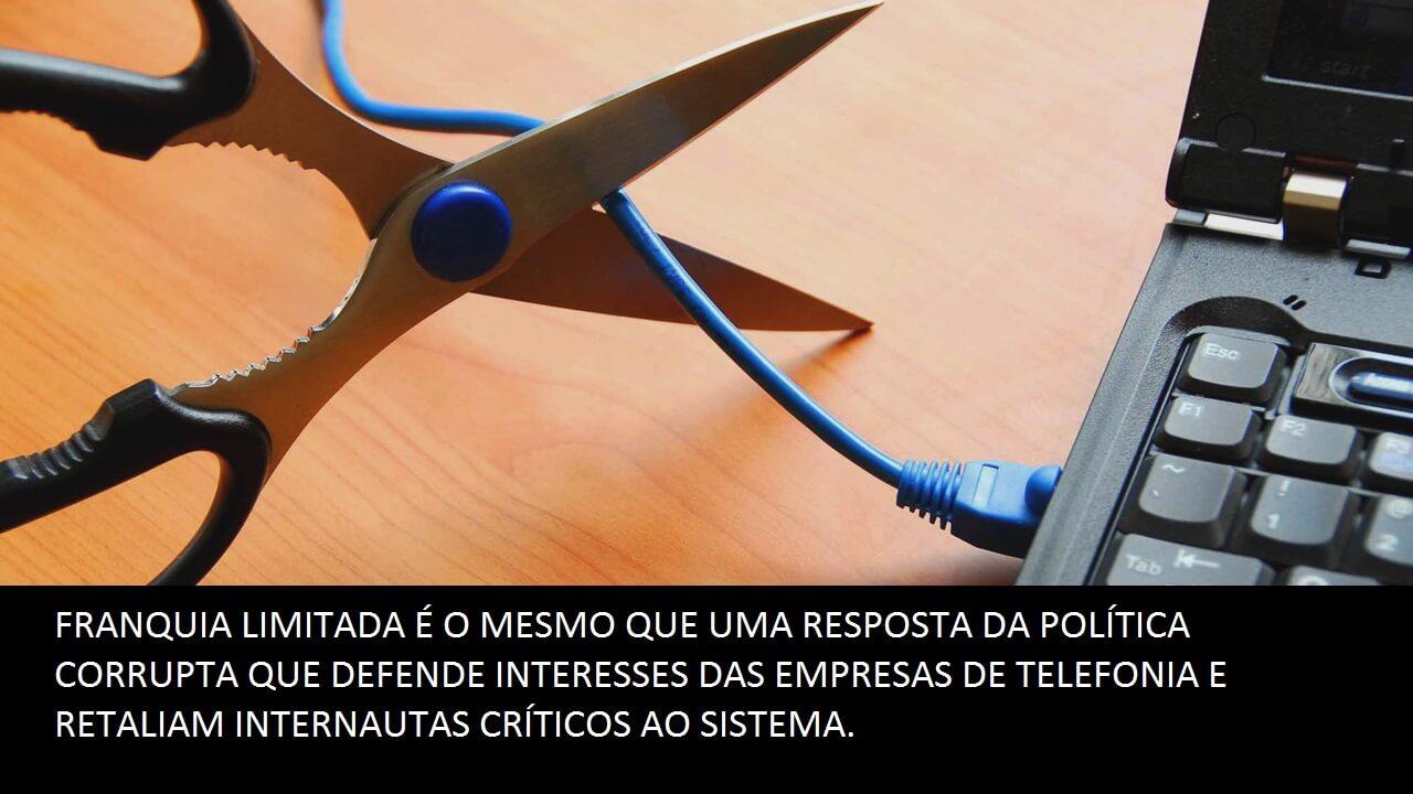 Internet franquia limitada no Brasil - Londrina contra isso
