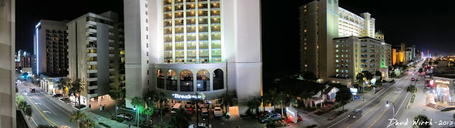 myrtle beach hotel, main road, bike week, panorama