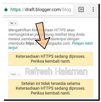 ketersediaan HTTPS sedang di proses