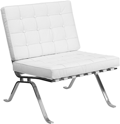 Flash Furniture White Leather Lounge Chair