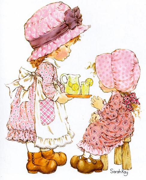 Sarah Kay é uma desenhista australiana que criou uma personagem homônima que originalmente figurava ao lado de outros desenhos de crianças em cartazes e cartões de aniversário.